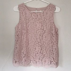 Loft🌸Sleeveless Lace Top